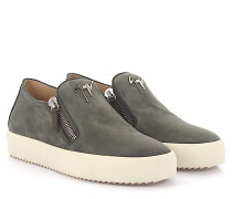 Sneaker Low ADAM Veloursleder khaki