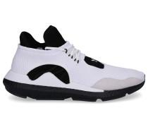 Sneaker high SAIKOU Nylon Logo Streifen schwarz beige