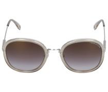 Sonnenbrille Oval 084239 Metall Acetat silber
