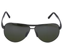 Sonnenbrille Aviator 8649 I Titan silber schwarz