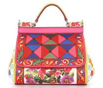 Handtasche Schultertasche Sicily Mini Leder Multicolor