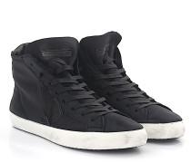 Sneaker Mid Top Kalbsleder Lammfell