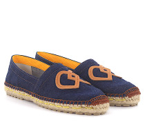 2 Espadrilles Flat Denim Logo-Patch Bast
