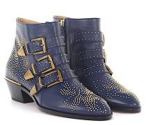 Stiefeletten Boots Susanna Nappaleder Nieten gold Floral