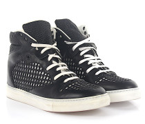 Sneaker High Top Leder Lochmuster