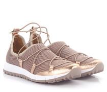 Sneakers Slip-On Andrea Stoff metallic Mesh rosé Leder rosé