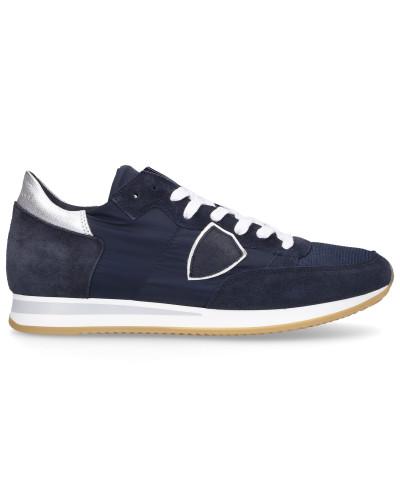 Sneaker low TROPEZ Materialmix Logo Patch -kombi