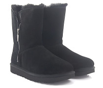 Stiefeletten Boots MARICE Veloursleder Glitzerdetail Lammfell