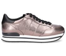 Sneaker low Glattleder Logo bronze