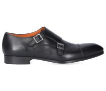 Monk Schuhe 14549 Kalbsleder Logo