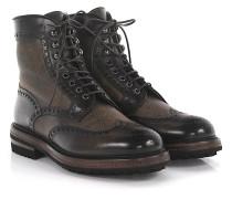 Boots Budapester 13423 Veloursleder Lammfell