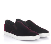 Slip-On Tux Samt bordeaux