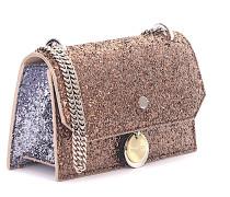 Handtasche Schultertasche Finley bronze Glitzer
