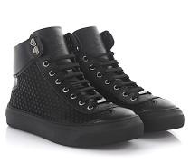 Sneaker High Argyle Satin Leder Gummi Sternenverzierung