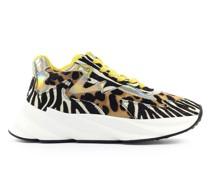 Sneaker low COLETTE Kalbsleder Pony gelb leopard