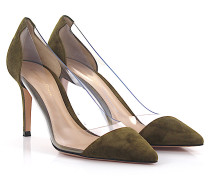 Plateau Pumps Hope 100 Veloursleder khaki