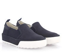 Rebel Sneaker R320 Slip On Plateau Nubukleder Stretch