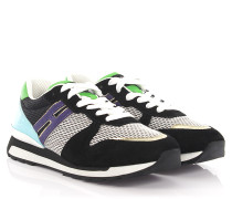 Sneakers R261 Veloursleder Lackleder türkis Mesh weiß