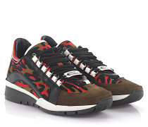 2 Sneaker 551 Leder schwarz Veloursleder braun Nylon camouflage