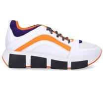 Sneaker low 1X8336 Kalbsleder Materialmix Logo weiß