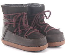 Boots CLASSIC DARK BROWN Lammleder Fell