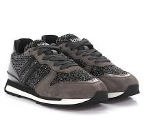 Sneaker Running R261 Veloursleder grau glitzer