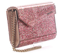 Clutch Candy Glitzeracryl rosa Kamelie