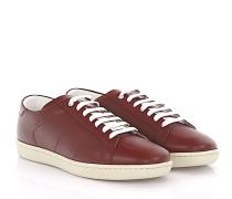 Sneaker Leder bordeaux