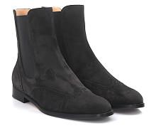 Chelsea Boots 7641 Veloursleder dunkel