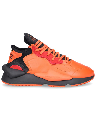 Sneaker low KAIWA Kalbsleder Logo orange