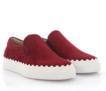 Sneakers Slip On CH26143 Veloursleder bordeaux