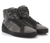 Sneakers High Top R141 Rebel Leder Veloursleder schwarz