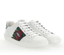 Ace Sneaker Leder weiss Stieckerei LIPS