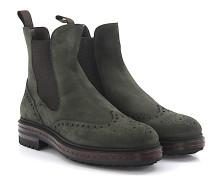 Chelsea Boots 11661 Veloursleder khaki Lammfell