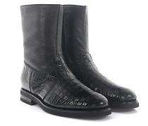 Stiefeletten Boots 57515 Krokodilleder Hirschleder Lammfell