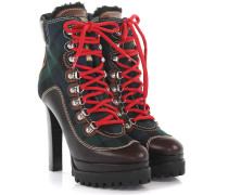 2 Plateau Ankle Boots Leder