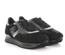 Sneaker H222 Nuovo Sportivo Veloursleder lackleder geprägt