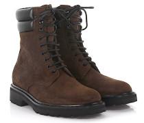Stiefeletten Boots Trekker 25 Pad Top Veloursleder finished Leder schwarz