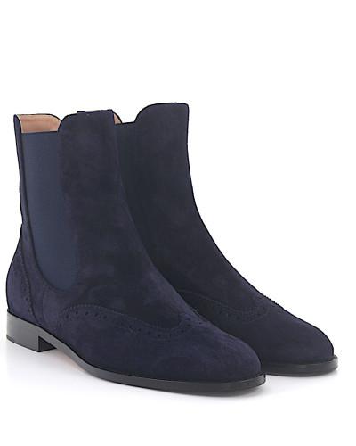 Ankle Boots 7641 Budapester Veloursleder dunkel