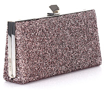 Clutch Celeste/s tearose Glitzergewebe Metallic-Optik