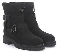 Stiefeletten Boots COMBAT Veloursleder Lammfell