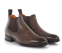 Chelsea Boots Mid Cut 14282 Leder taupe Goodyear