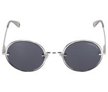 Sonnenbrille Round 084203 Metall silber