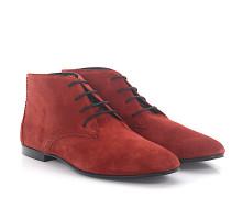 Stiefeletten Boots Veloursleder Lochmuster