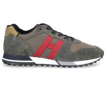 Sneaker low H383 Veloursleder Textil Logo