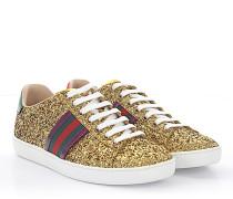 Ace Sneaker Leder Stoff Glitzer Wedetail