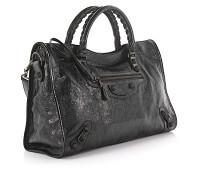 Handtasche Schultertasche Classic City Leder crinkled Design-Nieten