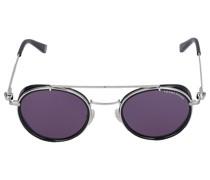Sonnenbrille Round 044106 Metall Acetat schwarz