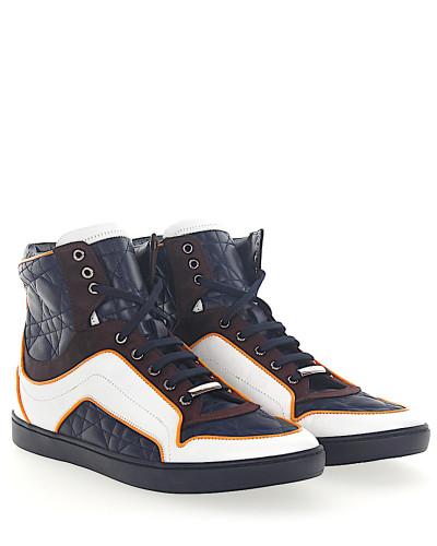Sneaker high Glattleder Kalbsleder Satin Logo