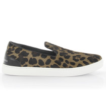 Sneakers Slip On London Pant Nappaleder Pony Leopard Print
